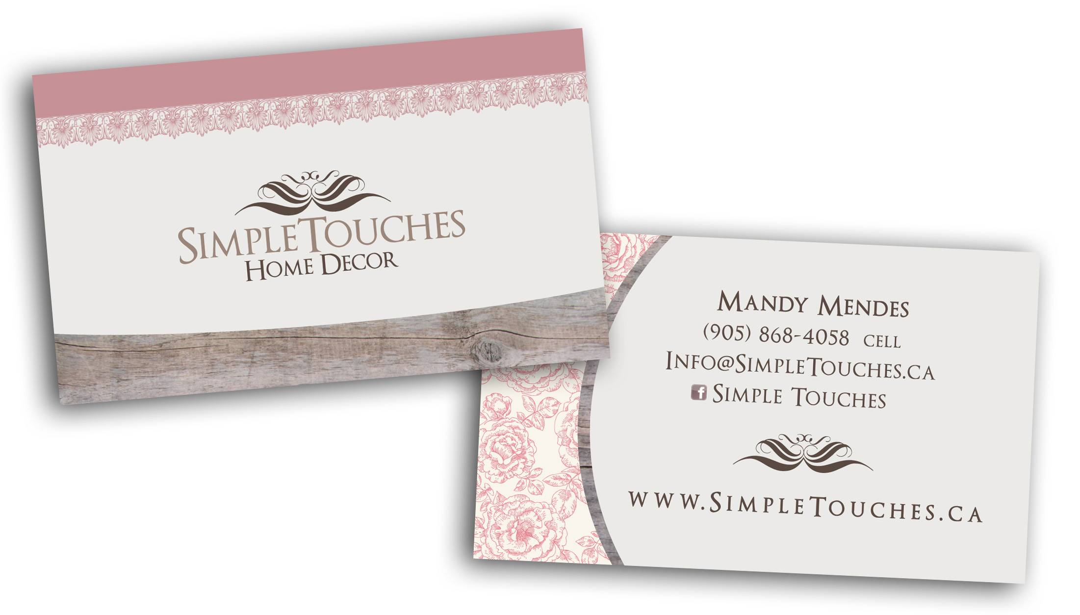 Simple Touches, Business Card