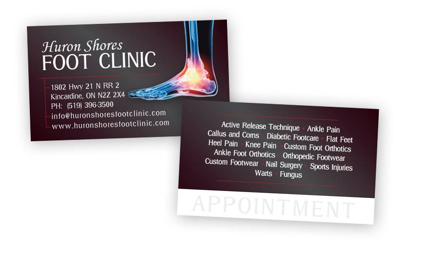 Huron Shores Foot Clinic Business Cards