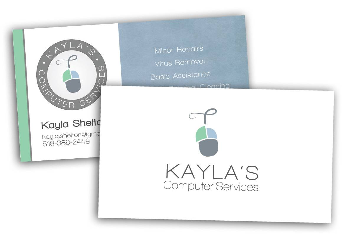 Kayla's Computer Services, Business Card